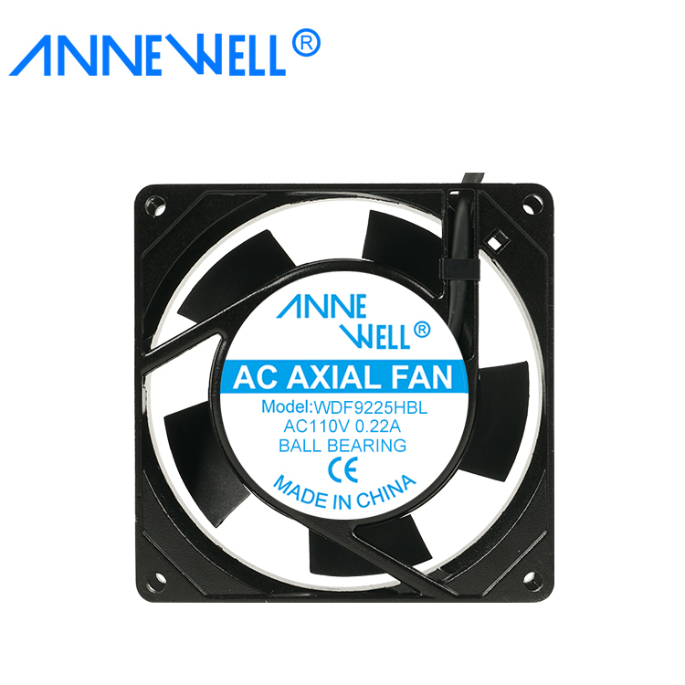 9225 92mm Axial Plastic Blade Ac Fan 110v Large Ac Cooling 92x92x25mm Ac High Cfm Fan