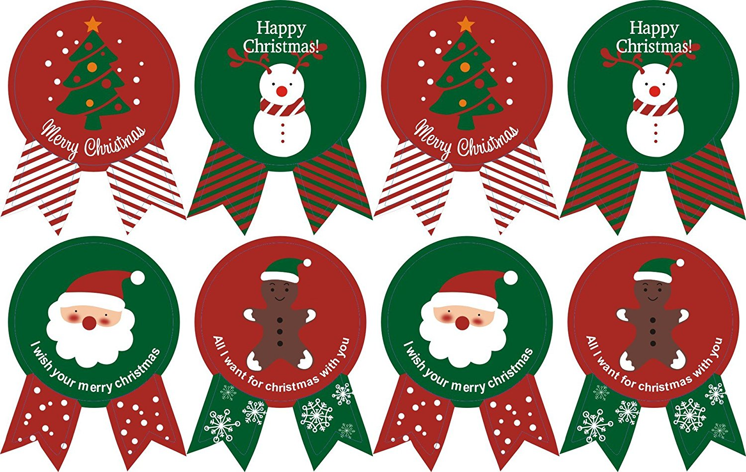 Pack of 40 Christmas style Decorative Adhesive Label Personalized Stickers Packaging Seals Crafts Handmade Baked Envelope Label Decorative Sticker (Christmas sticker 25mmx35mm 40pcs)