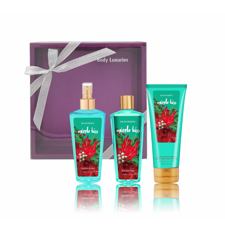 2017 Newest cosmetics factory special design bath and skin care gift set for christmas