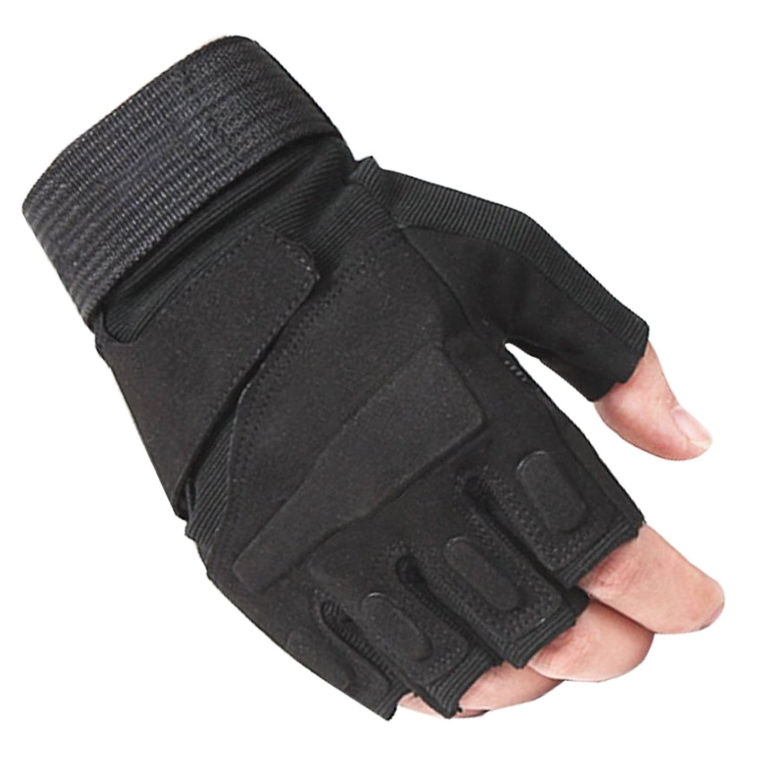 Hot Outdoor Half Finger Gloves Military Tactical Airsoft Hunting Riding Cycling