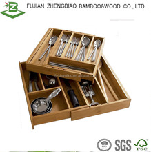 Bamboo expandable Kitchen Cutlery Tray eco-friendly