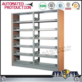 china gold supplier double sided bookstore bookshelves specifications metal library bookshelves - Metal Library Bookshelves