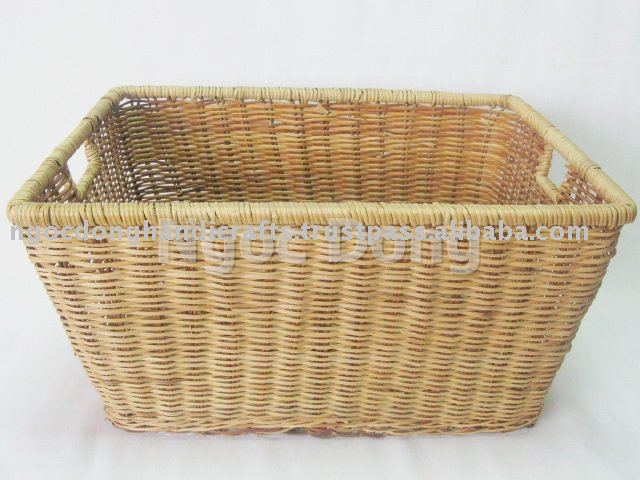 Rectangular fern tapered storage basket