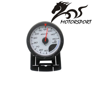 MS 60mm 2in1 Boost Turbo Gauge Water Oil Temp Analog OLED Japan Stepper Motor Auto Gauge