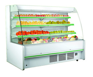 R404a gas refrigerator/open type deep fridge display chiller for beverage