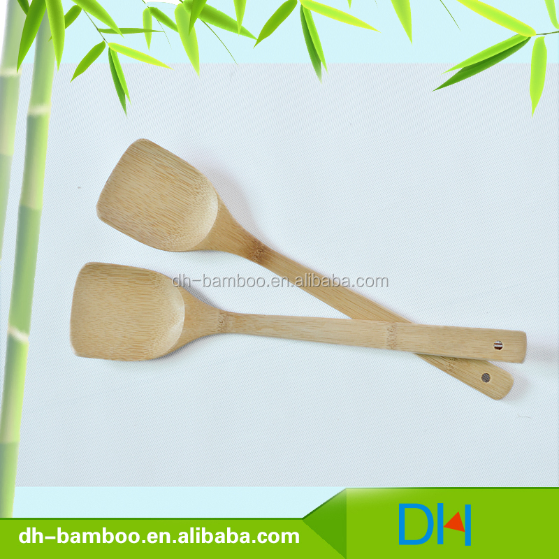 Wholesale High Quality Bamboo Slotted Turner/Spatula, New Design Eco-friendly Bamboo Utensils Cooking Sets