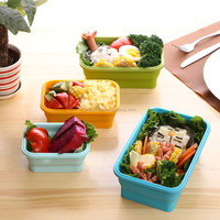 4 Pack (350ML , 500ML , 800ML , 1100ML) Elegant, Fashionable & Stackable Food Storage Containers, Silicone food container