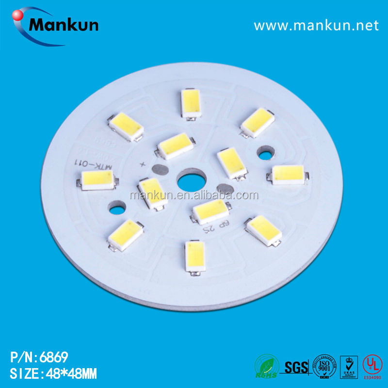 Round 48mm 0.5w-3w Printed Circuit Board Assembly,Aluminum