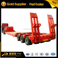 Best selling high tensile steel material heavy duty 3 axis 6 axles 120 ton low bed truck trailer with dolly
