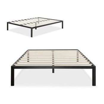 Wooden Slat Bed Frame 4 Legs Queen