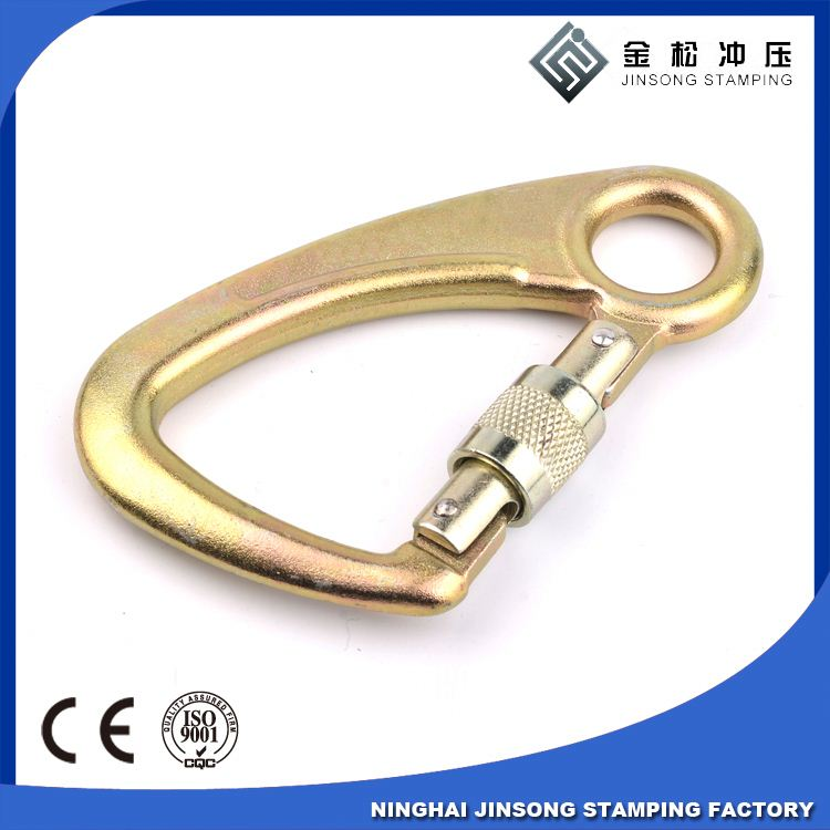 D Shaped Swivel Eye carabiner/ climbing Snap Hook Spring Clip