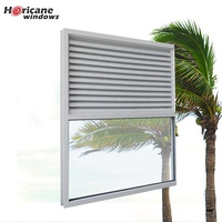Florida Miami-Dade Hurricane Approved gray exterior hurricane aluminum fixed window