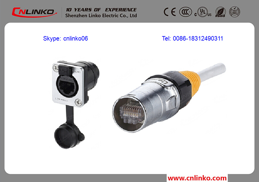 provide push pull connector circular panel rj45 connector
