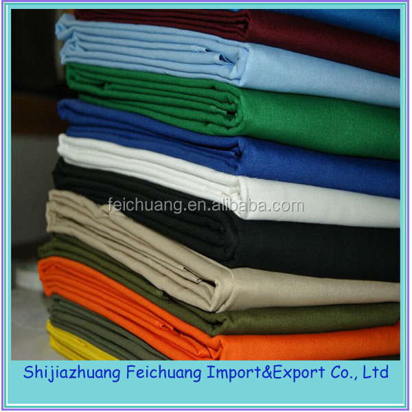 soft and eco-friendly custom colour 100 cotton drill uniform fabric