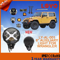 automobile 8000LM high lumen Auxiliary Light for jeep offroad IP67 12V 40W 6'' led lighting for jeep