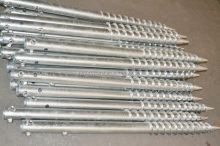 Q235 Galvanized Steel Ground Screw / Ground Solar anchor bolt