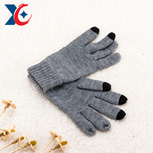 Cheap colorful touch screen knit gloves winter season fashionable finger acrylic mittens