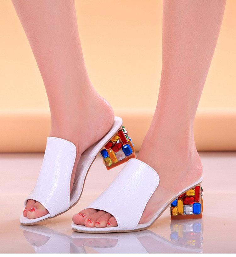 7029745b3 Women Sandals 2018 Ladies Summer Slippers Shoes Women high Heels ...