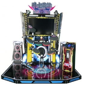 video arcade jazz drum musical instrument about skill with prize game,China coin operated amusement park music game machine