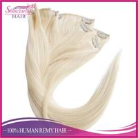 Wholesale blonde natural hair weaves, unprocessed 8a grade Brazilian hair, clip in hair extensions free sample