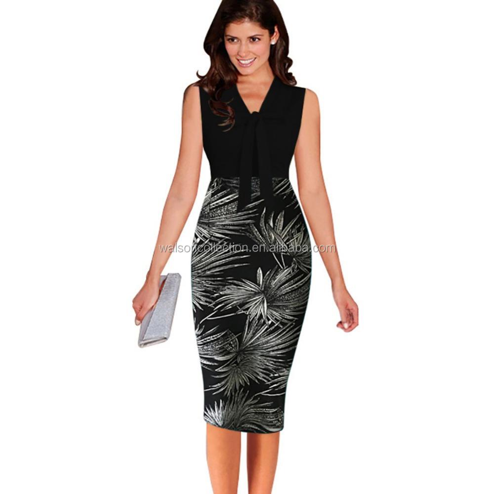 Damen büro figurbetontes Kleid frauen formale Party-Geschäft bodycon ...