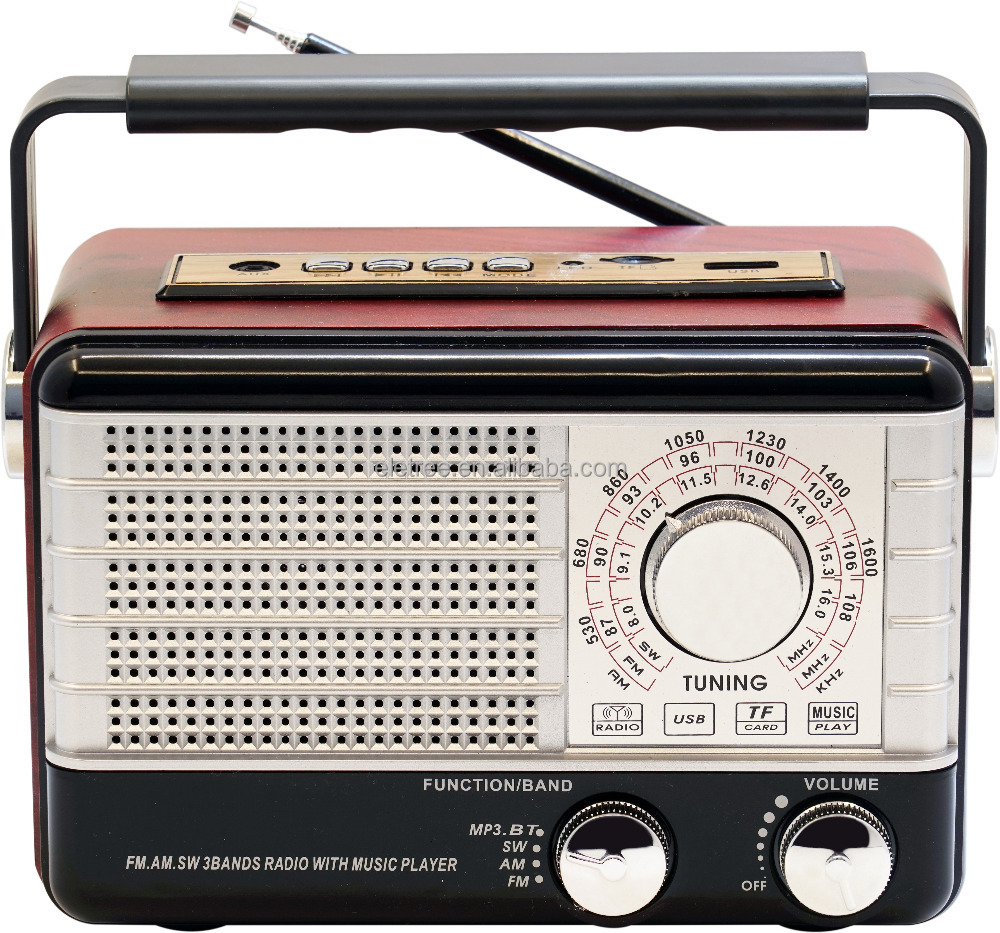 High quality Wireless BT mini usb retro radio with Built-in Stereo Speaker PX-P10BT