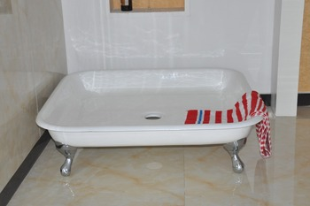 Claw Foot Shower Base/Cast Iron Enameled Shower Trays
