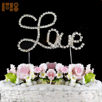 Fashion Chinese Wedding Letter Love Cake Topper Cake Decorating