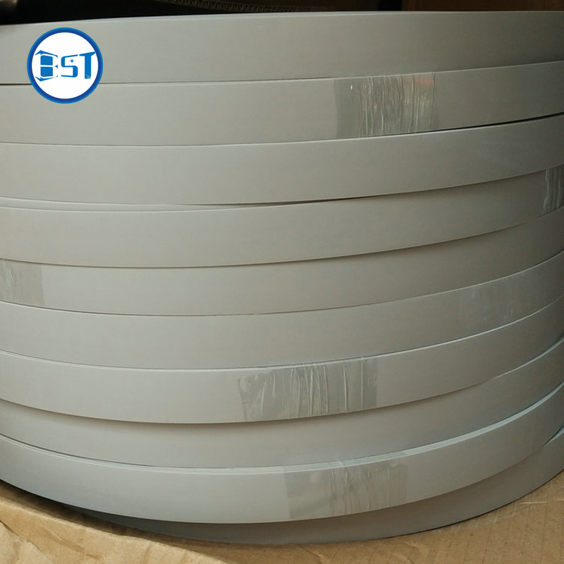 1*50mm y 1*23mm blanco mate bandas de borde de PVC