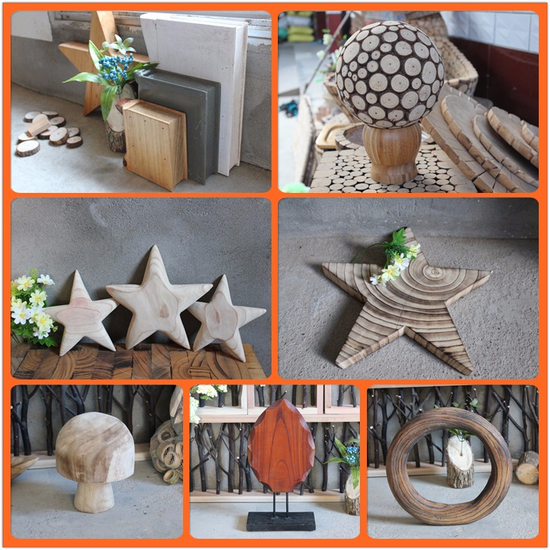 Home decorative heart+circle+flower shape wood wall art wooden wall