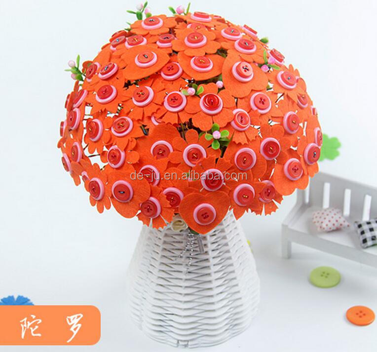 New Product Orange Button Handicraft Item