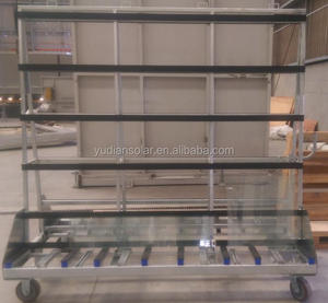 Glass Serving Trolley Glass Moving Trolley Glass Rack Trolley
