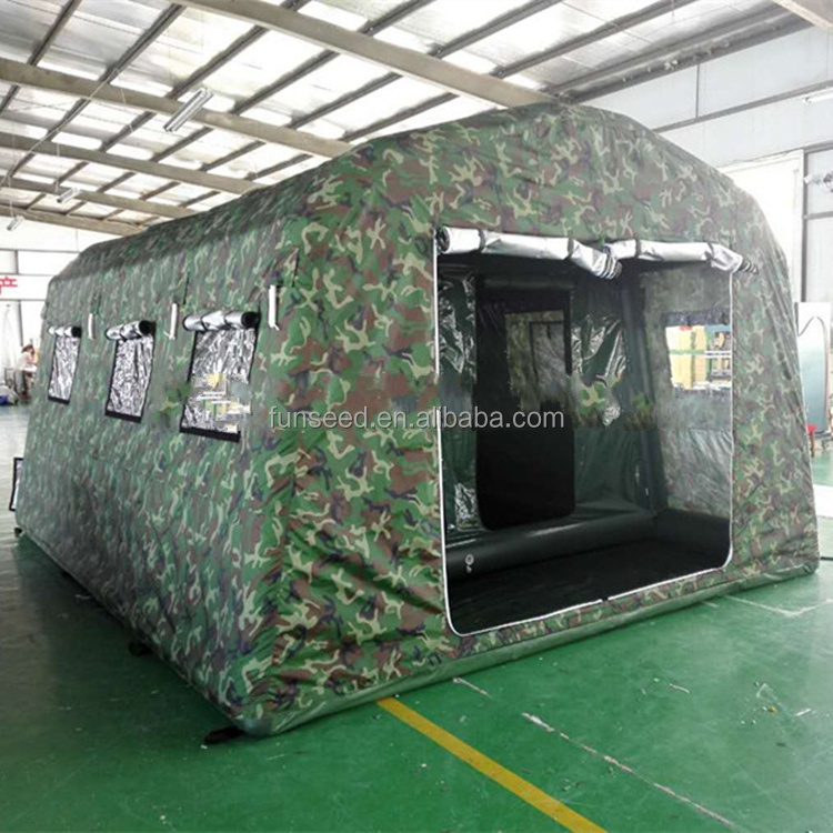 wholesale Unique outdoor camouflage inflatable army camping tent