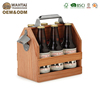 Wahtai Traditional Anniversary Gift Ideas Wooden Beer Caddy With Bottle Opener