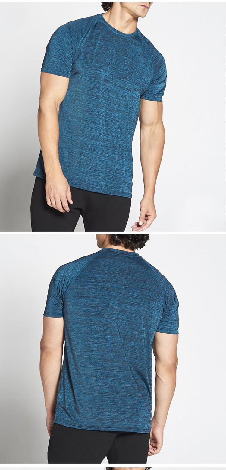 New arrival special cutting men's t-shirt latest shirt designs for men with zipper pocket workout t shirts