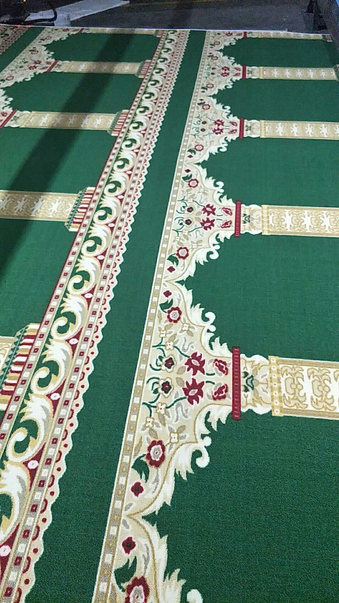 Machine Faite Rouge Tapis Imprimé Motif Pour Mosquée, Salle de Prière