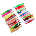 50pcs 9cm Mixed Color Soft Silicone Fishing Lures Plastic Octopus Squid Skirt Fishing Lure Saltwater Octopus