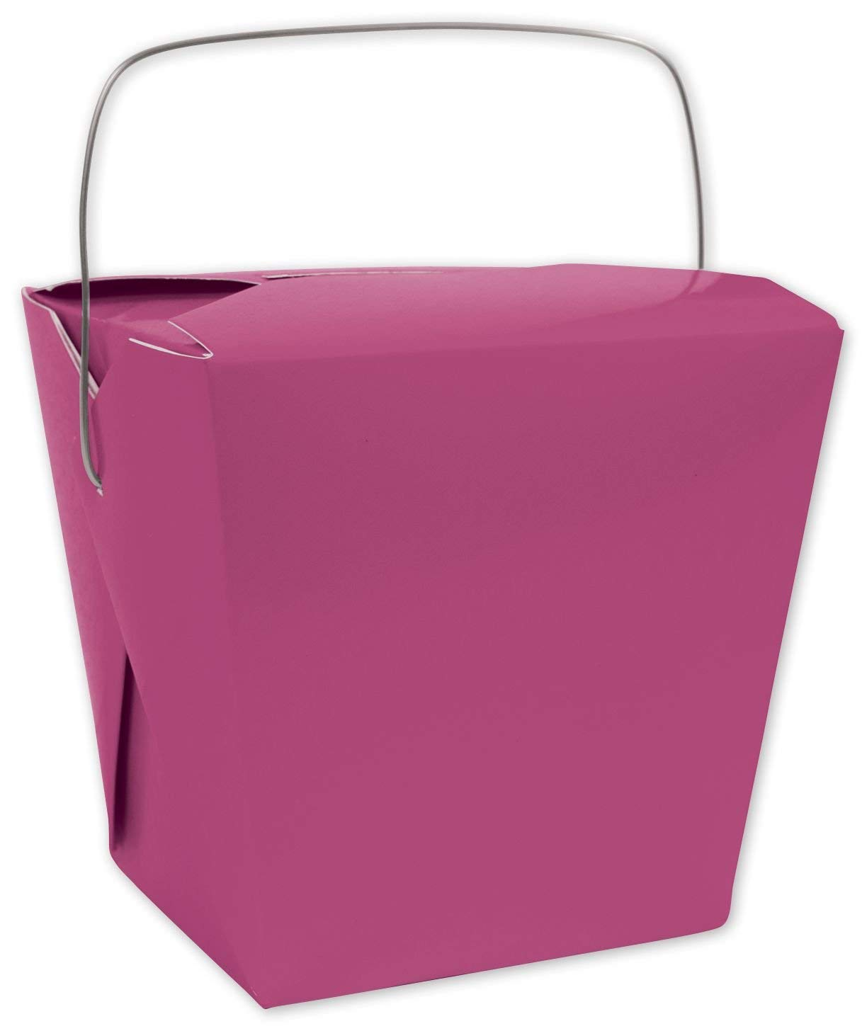 """Solid Color Specialty & Event Boxes - Pink Event Boxes, 4 x 3 1/2 x 4"""" (12 Boxes) - BOWS-1165-5"""