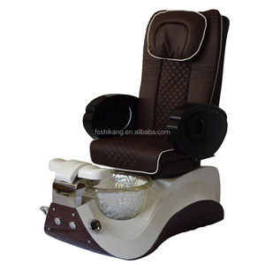 Modern design pedicure spa chair glass bowl/luxury pedicure chair foot spa massage