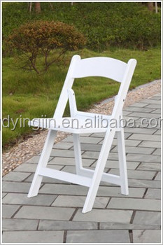 Used In Outdoor Wedding Garden Resin White Foldable Chair - Buy ...