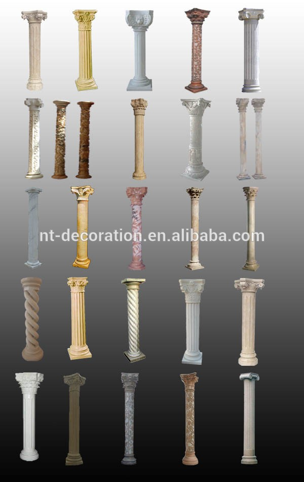 Faux Pillars And Columns : Faux decorative marble columns and pillars wholesale ntmf