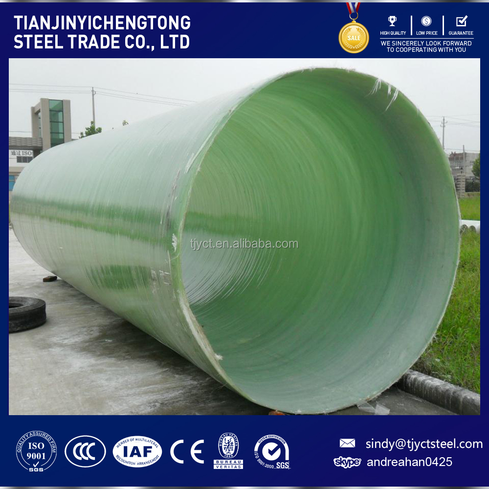 DN5000 big diameter GRP Pipes with high pressure