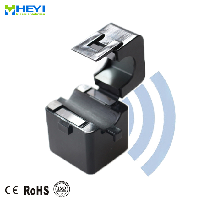 HEYI wireless current transformer WKCT 5A - 600A split core current transducer for Electrical networks monitoring systems