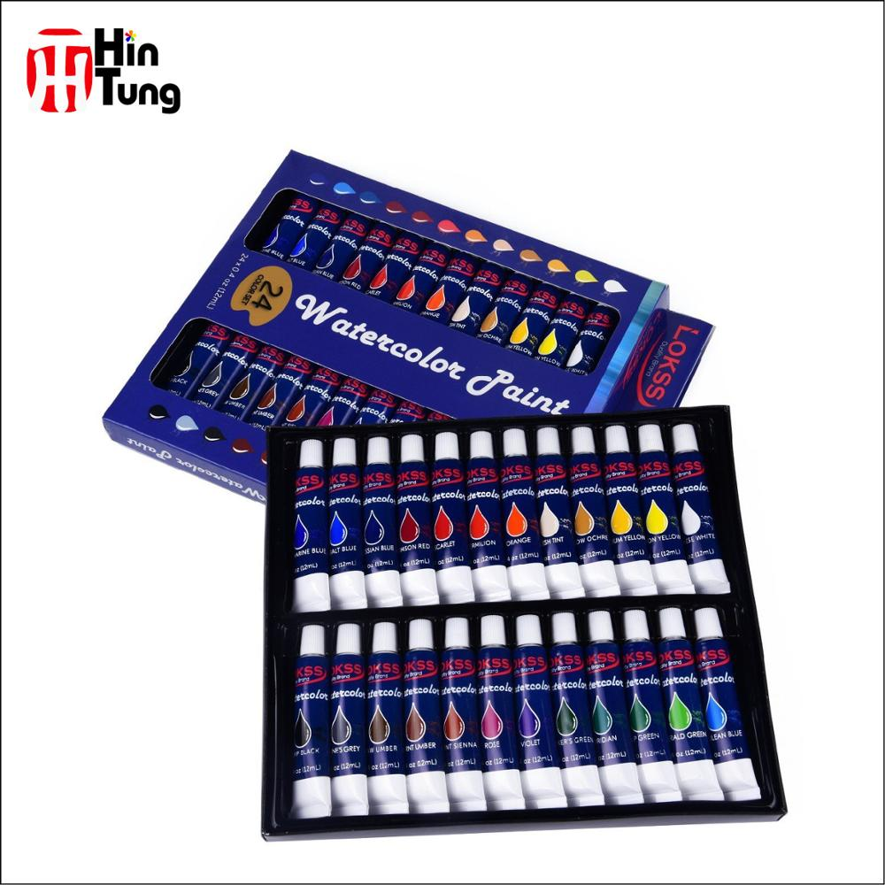 סגנון חדש רעיל 24 pcs 12 ml Waterolor צבע סט