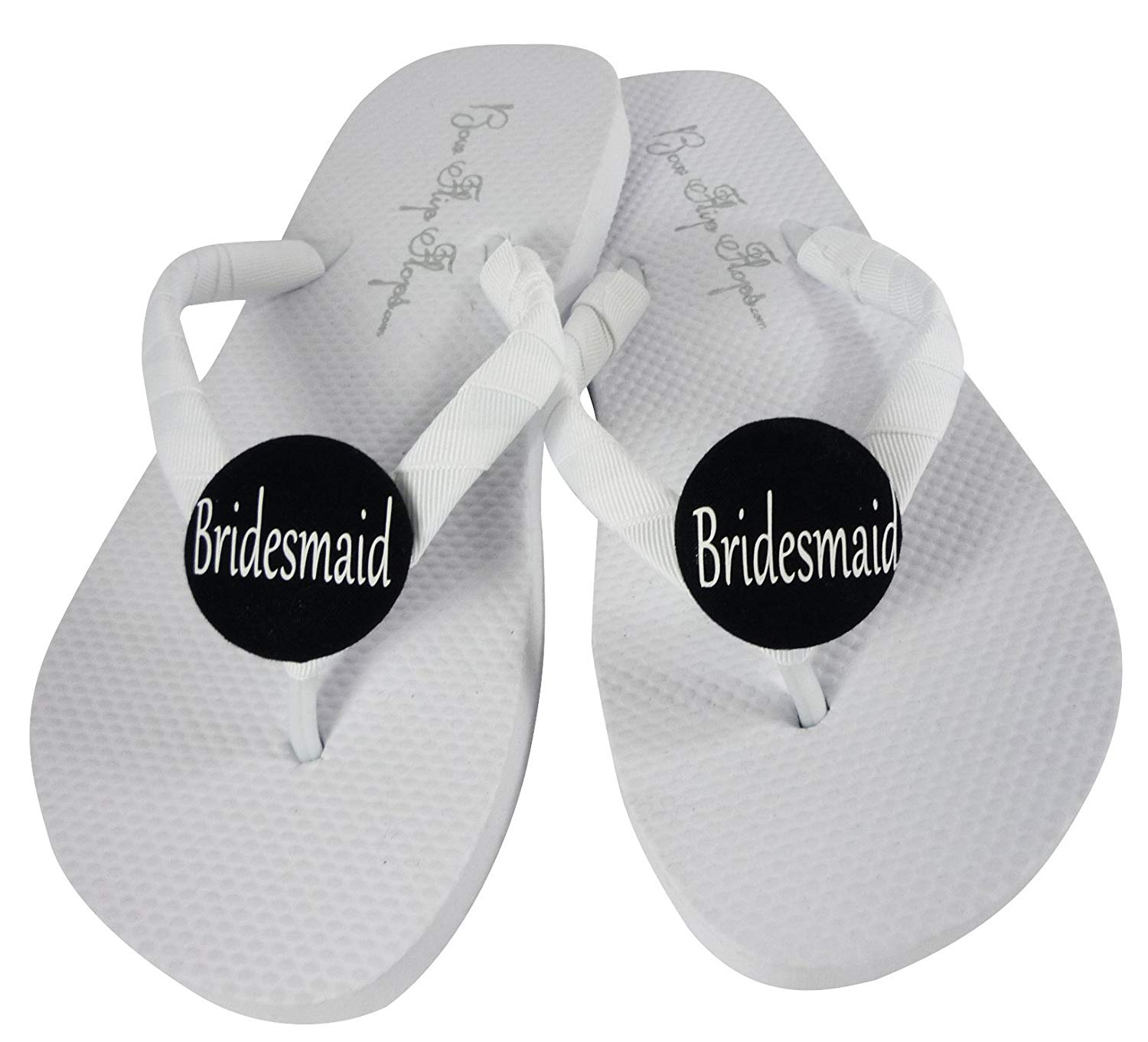 dd76df8d6 Get Quotations · Cute White Flat or Black Bridesmaid