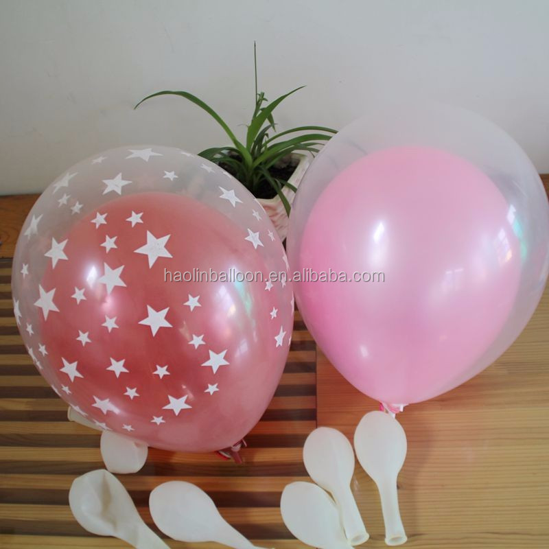 Hebei 2016 new arrival Printed latex balloons clear balloon