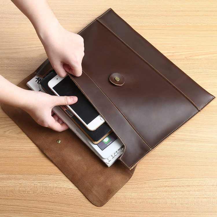 Portable PVC leather car manual document wallet holder wholesale