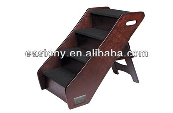 Wooden Pet Stairs Three Steps Mini Carpeted Pet Ramp Pet Stairs Pet Supply  Of Dog Ramp