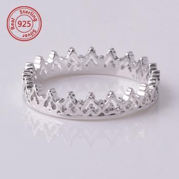princess crown ring crown stacking set sterling silver princes crown