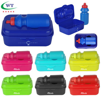 f037daf0ae Promotional Plastic Kids School Lunch Box With Water Bottle - Buy ...